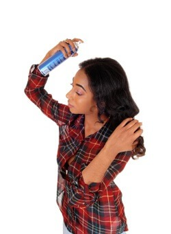 Natural Hair Spraying